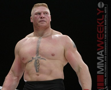 UFC Champ and future Aryan leader in a prison movie or prison: Brock Lesnar